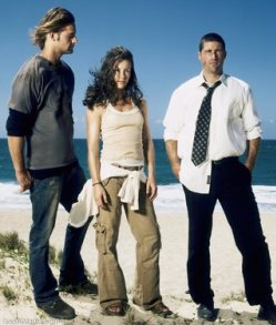 Sawyer, Kate, and Jack Season 1 promo picture