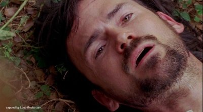 Daniel Faraday, looking pretty dead, at the end of 5x14 The Variable