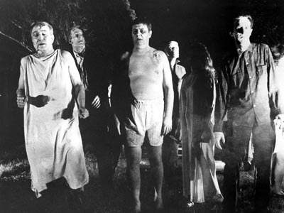 "Zombies from the 1968 classic horror movie ""Night of the Living Dead"""