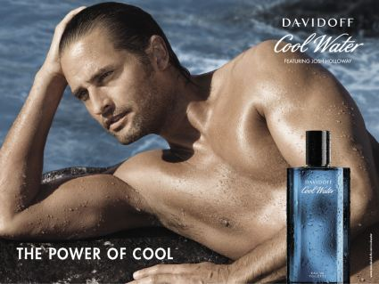 Josh Holloway in an ad for Cool Water cologne
