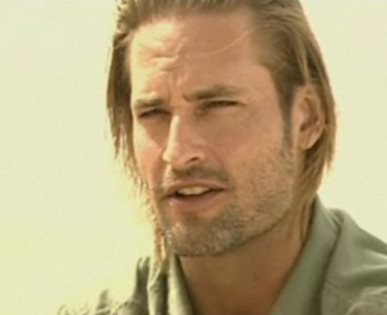 "Josh Holloway, with stubble, in the ""Making of"" video"