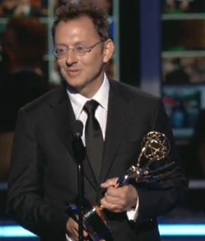 Michael Emerson giving a short, but sweet acceptance speech