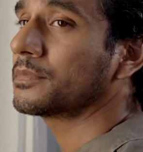 Sideways Sayid in LOST 6x06 Sundown Naveen Andrews