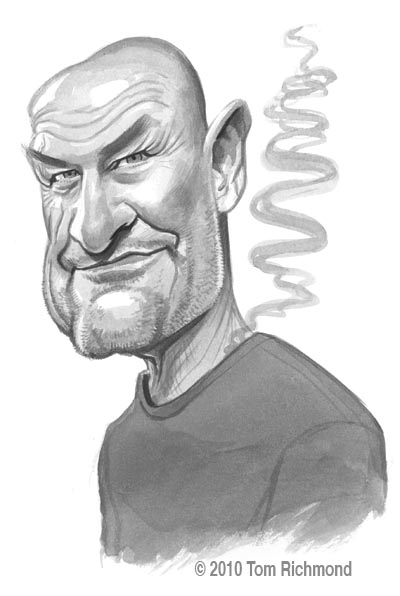 Caricature of Locke Flocke Smoke Monster LOST
