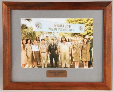 Dharma recruits 1977 framed photo LOST auction