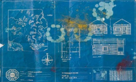 Jacobs cabin blueprint map LOST auction