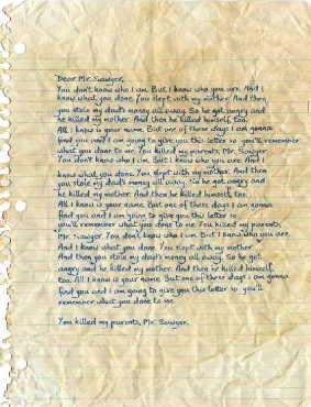 Sawyers letter LOST