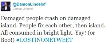 Damon Lindelof summed up LOST in one tweet