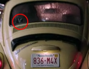 Geronimo Jackson rabbit on back of Emmas car in Once Upon a Time